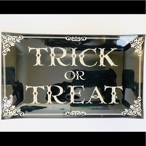 Trick Or Treat Glass Plate